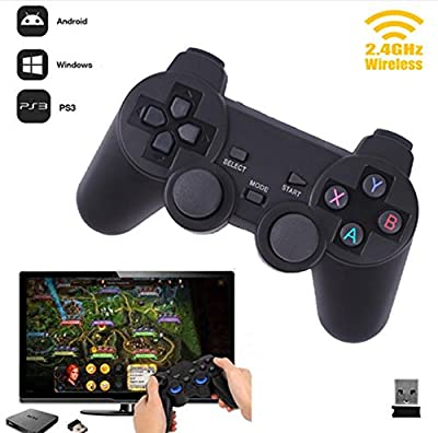 Vicstar Wireless Gamepad PC For PS3 TV Box Joystick 2.4G Joypad Game Controller Remote For Xiaomi Android PC win 7 8 10 Accessories