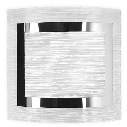 Applique Oak con anello in cromo cm 23x23 Lampada 1xE27 da 60W