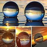 SunAngel Foto-Kristallkugel, optische Glaskugeln, K9-Kristallkugel, Objektivkugel (80 mm + 60 mm + 2 LED-Kristallständer) 80MM+60MM +2PCS Square Crystal Stand