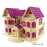 HFXDXR Holz DIY Cottage Villa Holz 3D Simulation Gebäude Modell Kinderspielzeug