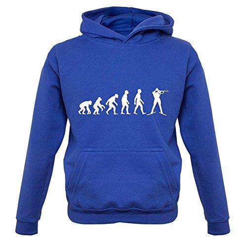Evolution of Man - Biathlon - Kinder Hoodie/Kapuzenpullover - Royalblau - M (5-6 Jahre)