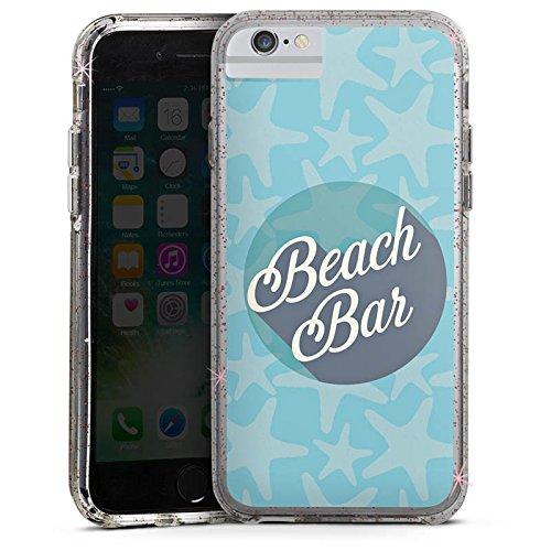 Apple iPhone 6 Plus Bumper Hülle Bumper Case Glitzer Hülle Beach Strand Urlaub Bumper Case Glitzer rose gold