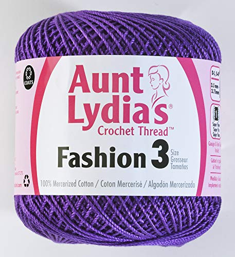 Aunt Lydia's Fashion Crochet Thread Size 3-Purple -