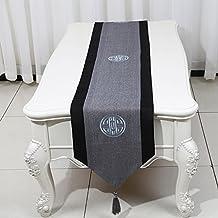 GGCCX Table Runner Nuevo Camino De Mesa De Estilo Minimalista Clásica China , Gray , 33*230Cm