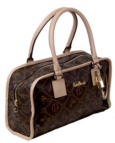 Merano - feiner Shopper Long-Format kleine Handtasche All-over Muster ca. 35x19,5x9,5 cm (B x H x T)