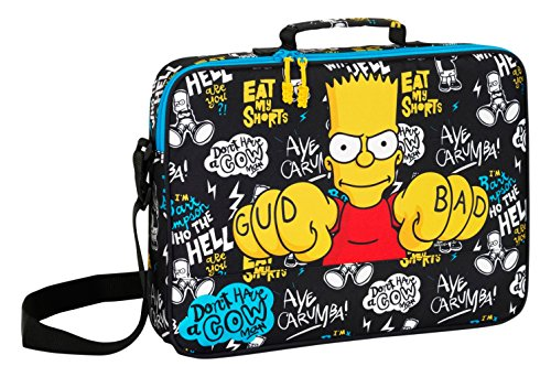 safta- Cartera Bandolera extraescolares, Color Simpsons, 38 cm (611605385)