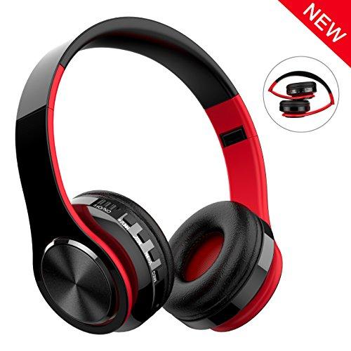 fe25c4938ab Cascos Bluetooth Inalámbrico, Macrout Auriculares de Diadema Portatiles con  Micrófono, FM Radio Manos Libres
