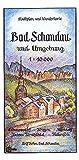 Bad Schandau und Umgebung 1:10000: Stadtplan und Wanderkarte. Rathmannsdorf - Krippen - Altendorf - Unteres Kirnitzschtal - Falkenstein. - Rolf Böhm