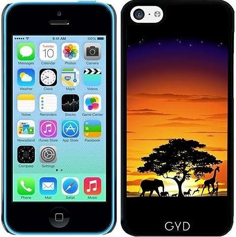 Hülle für Iphone 5c - Wilde Afrika Savanne Sonnenuntergang by