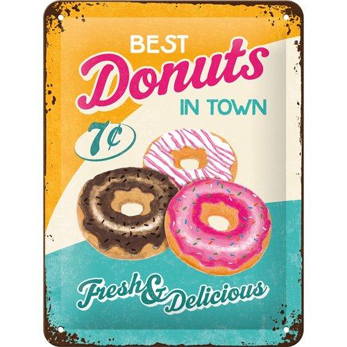 Nostalgic-Art 26150 USA - Donuts, Blechschild 15x20 cm (Donut Usa)