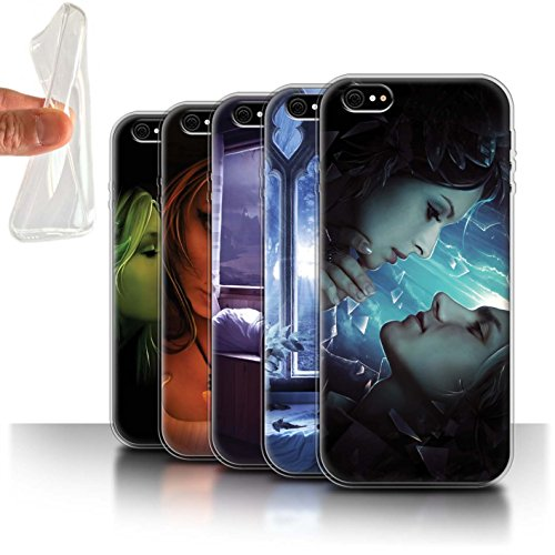 Officiel Elena Dudina Coque / Etui Gel TPU pour Apple iPhone 6 / Luz Sombra Design / Art Amour Collection Pack 7pcs