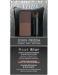 John Frieda Root Blur Ansatz-kaschierender Concealer - Kastanie bis Espresso Mittel- dunkelbraun, 2er Pack (2 x 2 ml)