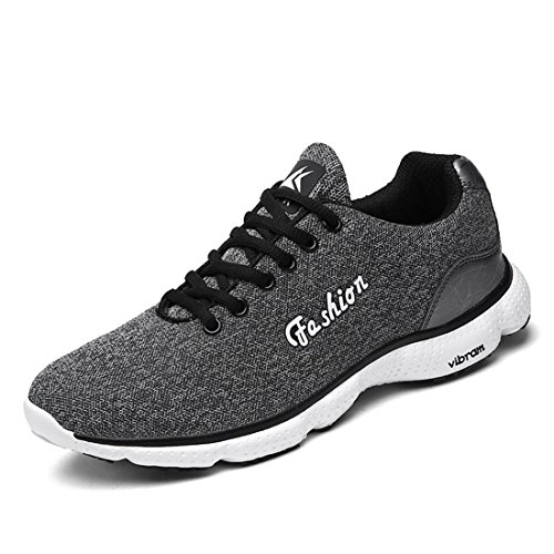 Hommes Mode Chaussures de sport Respirant Chaussures de loisirs Chaussures de course Grande taille Formateurs Baskets TAILLE 39-46 gray
