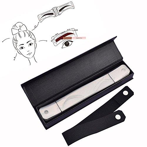 attoo Schablone Augenbraue Form Schablone Augenbraue Shaper Augenbraue Design Gürtel Eyeliner Schablone ()