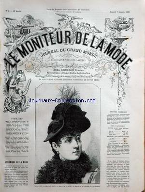 MONITEUR DE LA MODE (LE) [No 2] du 11/01/1890