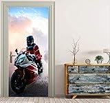 Stickers Muraux Et Outils Diypapier Décoration Chambre Salon Porte Porte Autocollants Porte Autocollants Moto Main Bricolage Porte Autocollants
