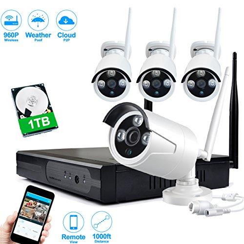 JOOAN-TC-734NVR-4N-1T-13MP-4x-960P-NVR-IP-seguridad-de-la-vigilancia-Cmaras-de-4-canales-CCTV-Wireless-Sistemas-Plug-and-Play-Interior-Exterior-Con-1-TB-de-disco-duro