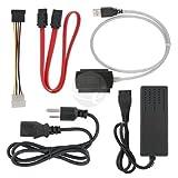 SANOXY 3 in 1 USB 2.0 zu SATA/IDE-Adapterkabel + Netzkabel Schwarz