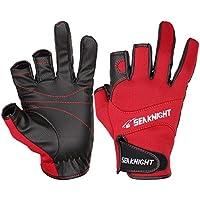 SeaKnight | Guantes de Neopreno | 3 Cut Fingers | Neopreno Antideslizante | Color: Rojo | Taglia: XL