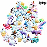 Mcree 30-pack Unicorn Slime ciondoli in resina Flatback, misti colori e stili multicolore Unicorn Slime perline ornamento per scrapbook DIY Crafts
