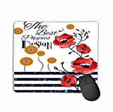 Mouse Pad seamless pattern words love ink graphic hand drawn background Paintings Rectangle Rubber Mousepad 11.81 X 9.84 Inch