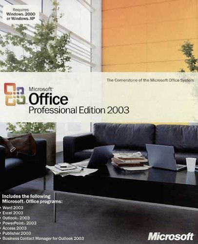 MS Office Pro 2003 CD W32 Word,Excel,Powerpoint,Access, Publisher