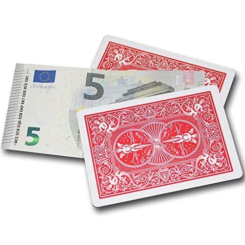 Bicycle Money Cards, Geldscheine erscheinen Lassen, Making Money Magic Trick, Banknote herbeizaubern in Restaurant oder Bar, Zaubertrick Lernen, Zauberartikel