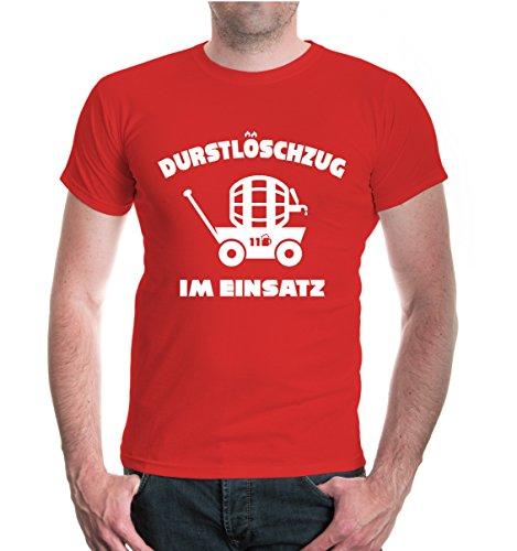 buXsbaum® T-Shirt Durstlöschzug im Einsatz Red-White