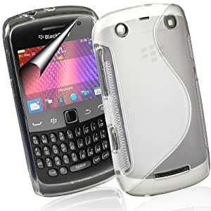Supergets® Blackberry Curve 9360 TPU Hydro Gel Case Covers, Screen Protector And Polishing Cloth - Clear