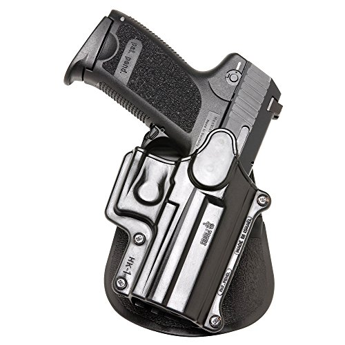 Fobus Roto Holster RH Paddle hk1rp H & K Compact & USP 9mm/40y 45, tamaño Completo 9mm/40/S & W Sigma Series 9/40VE/E/G/FN49Ruger SR9/Taurus Millenium .40(Pro Modelos consulte a SP11B)