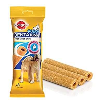 Pedigree Puppy Denta Tubo Puppy Treats with Chicken, 3 Treats