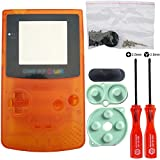 iMinker Volle Gehäuse-Shell-Paket-Fall-Abdeckung Ersatzteile mit geöffneten Werkzeugen für Nintendo Gameboy Color, GBC (transparent orange) -