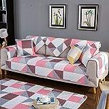 Ommda Waschbare Geometrisch Gesteppter Sofa Schutz Modern Abdeckung Antirutsch Möbelschutz...