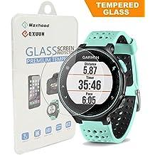 maxhood Garmin Forerunner 235 230 220 225 630 620 Protector de pantalla de cristal templado, Real 0,26 mm Premium reloj vidrio templado Protector de pantalla para Garmin 235 230 220 225 630 620