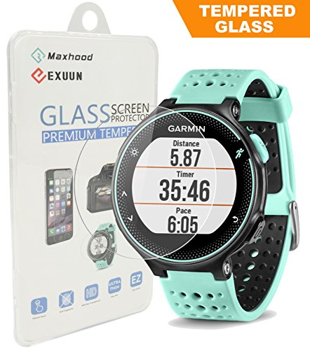 maxhood-garmin-forerunner-235-225-230-220-630-620-protection-decran-en-verre-trempe-veritable-026-mm