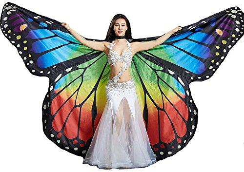 Tanzbekleidung & Accessories Isis Wings Flügel Schmetterling Schleier Bauchtanz Belly Dance Kostüm Fasching Karneval Samba ()