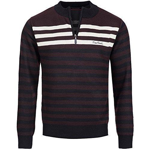 pierre-cardin-sweat-shirt-a-rayures-pour-homme-xl-marron-noir