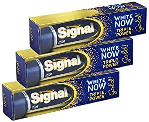 Signal Dentifrice Blancheur White Now gold 50 ml - Lot de 3