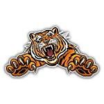 Angry Tiger Mascot Car Decor Vinyl Sticker 8 X 15 cm