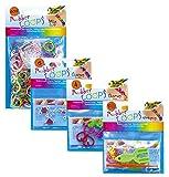 folia 339612 - Rubber Loops Set, bunter Mix, inklusive Werkzeug und Schmuck Sparkle und Love