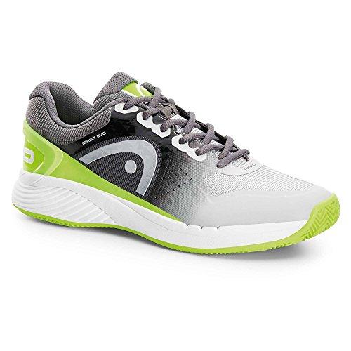 HEAD Sprint Evo Clay Grng, Chaussures de Tennis Homme Gris (Gris/Vert )