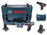 Bosch GSB 12V-15 Professional Akku Schlagbohrschrauber in L-Boxx + 1 x GBA 12 V 4,0 Ah Akku