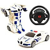 Amitasha Steering Control Police Transformation Robot Car Toy for Kids, Pack of 1