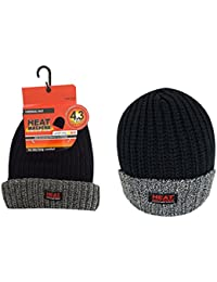 Heat Machine Chunky Knitted 4.3 Tog Fleece Insulated Thermal Beanie Hat