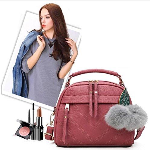 Adore Center Neu Leder Damen Tasche Mode Handtasche Beutel Schultertasche Umhängetasche 5 Farben Wählbar Rosa