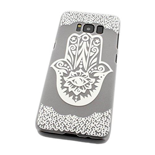Galaxy S8 Hülle - Hand der Fatima (Weiß)