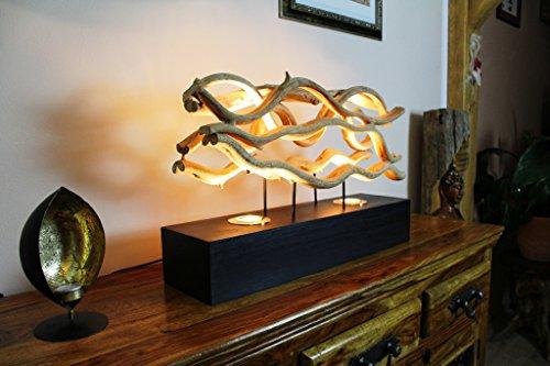 62cm XL Tischlampe aus Lianenholz CHUMPHON von Kinaree -