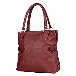 Glory Fashion Women's Stylish Handbag Maroon-AK-246