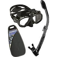 Cressi Action&Dry Kits Máscara Tubo, Unisex Adulto, Negro, Talla Única