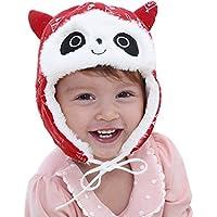 Malloom Panda plus terciopelo sombrero para niños sombrero para bebés sombrero para niños orejeras para bebés